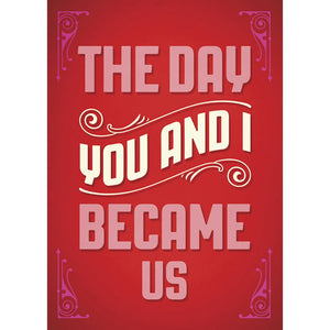 The Day You And I Anniversary Greeting Card 6 pack