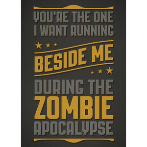 Zombie Apocalypse Friendship Greeting Card 6 pack