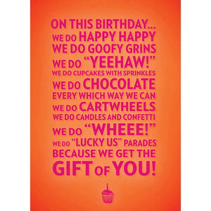 We Do Birthdays Birthday Greeting Card 6 pack