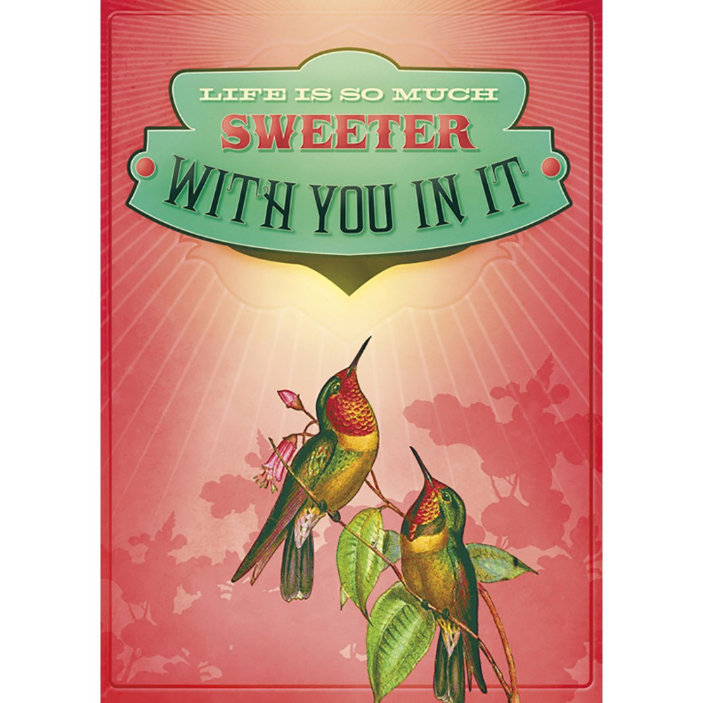 Life Is Sweeter Love Greeting Card 6 pack