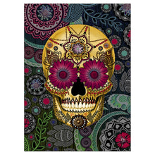 Load image into Gallery viewer, Sugar Skull Paisley All Occasion Greeting Card 6 pack