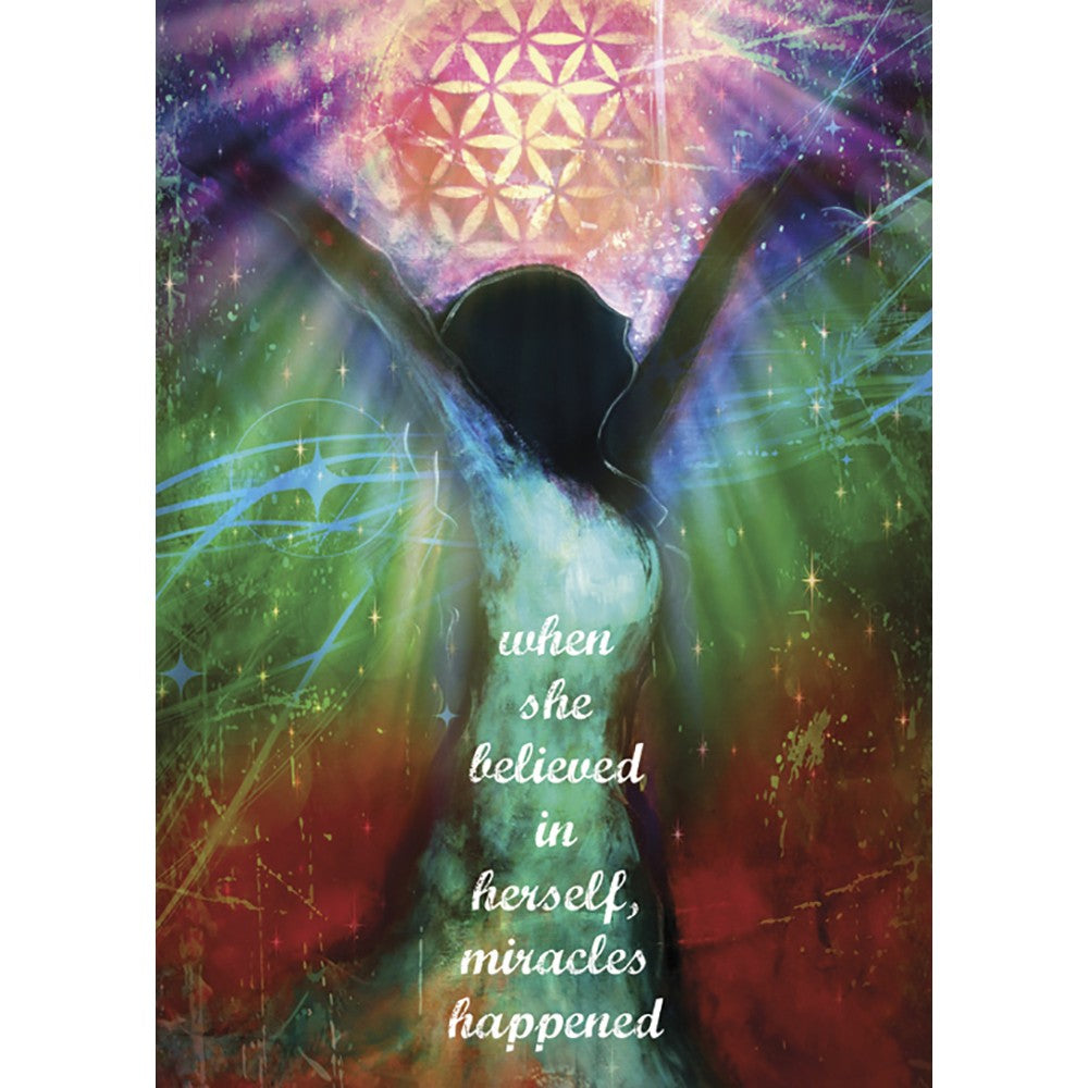 Miracles Happen Encouragement Greeting Card 6 pack