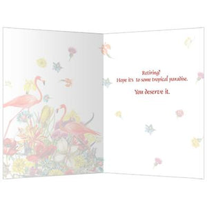 Tropical Paradise Retirement Farewell Greeting Card 6 pack