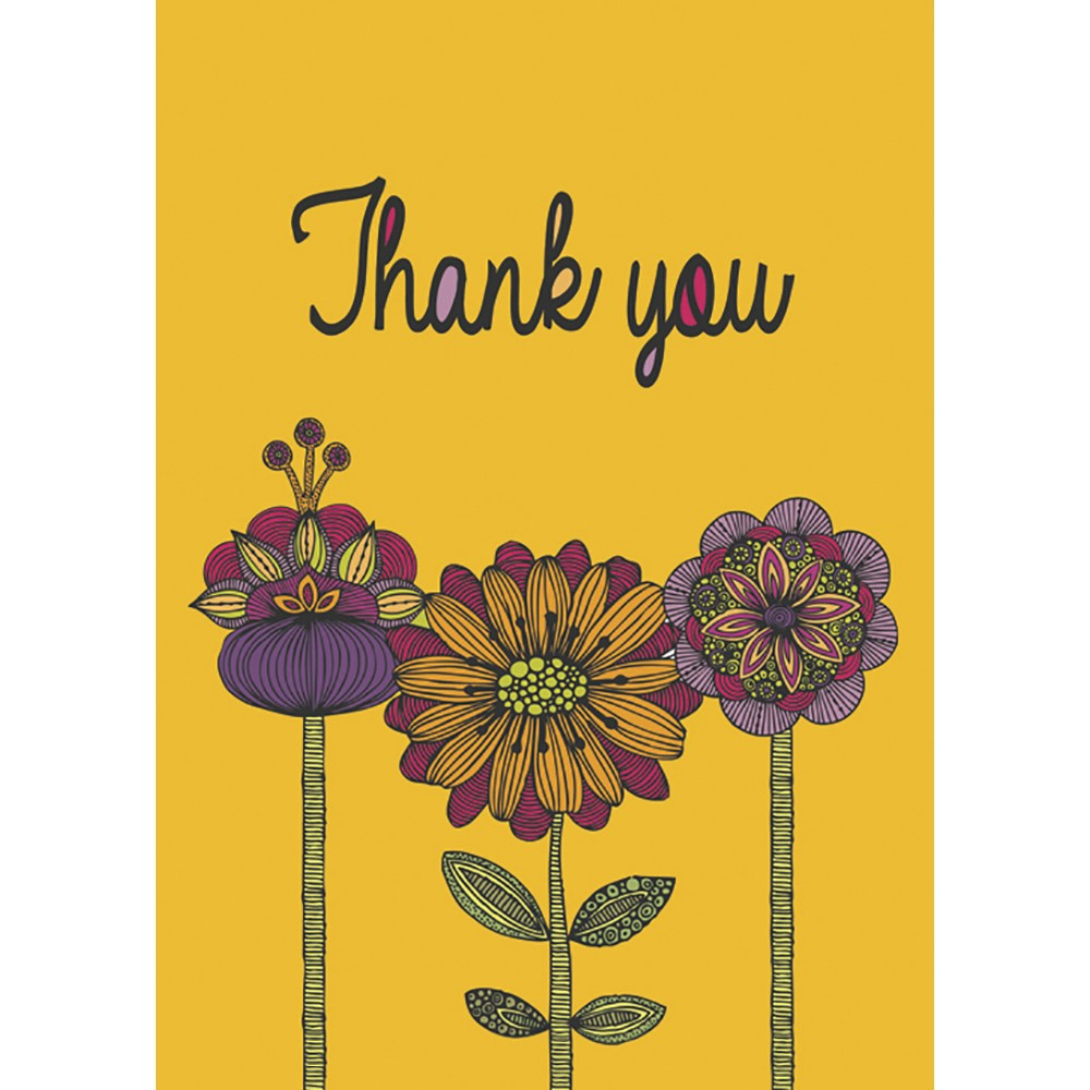 Abundant Thanks Thank You Greeting Card 6 pack
