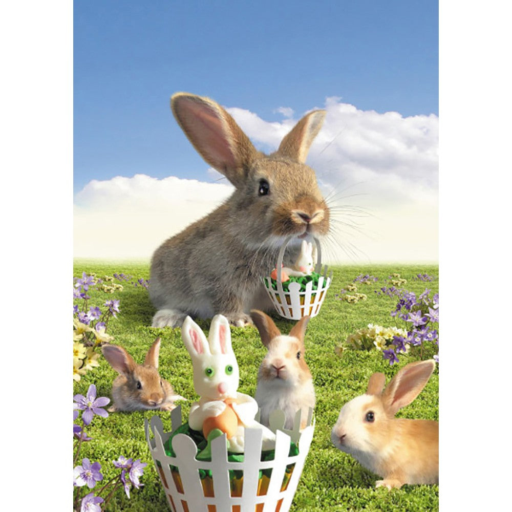 Easter Bunnies Easter Greeting Card 4 pack