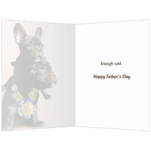 Number One Dad Father's Day Greeting Card 4 pack