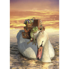 Load image into Gallery viewer, No Swan Song Farewell Greeting Card 6 pack