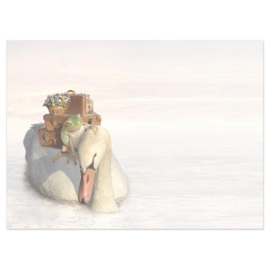 No Swan Song Farewell Greeting Card 6 pack