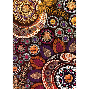 Autumn Mehndi All Occasion Greeting Card 6 pack