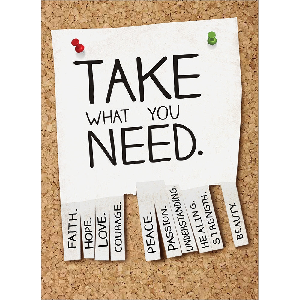 Take What You Need Encouragement Greeting Card 6 pack