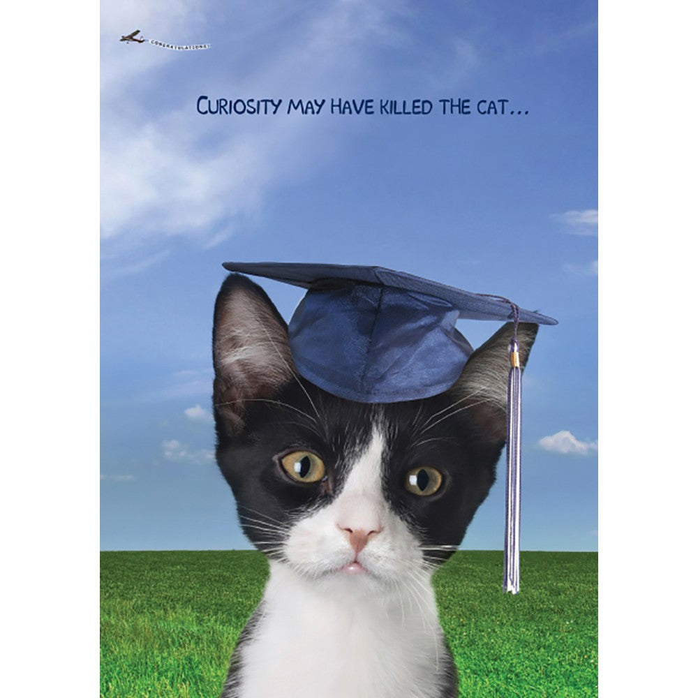 Curiosity Graduation Graduation Greeting Card 4 pack