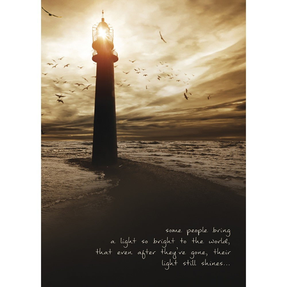 Light So Bright Sympathy Greeting Card 6 pack