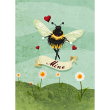Load image into Gallery viewer, Bee Mine Valentine's Day Greeting Card 4 pack