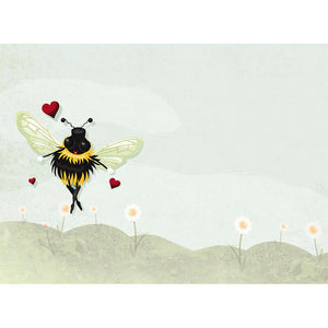Bee Mine Valentine's Day Greeting Card 4 pack