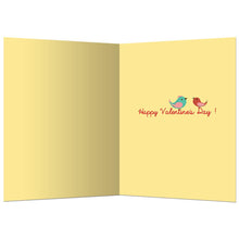 Load image into Gallery viewer, Valentine Lovebirds Valentine's Day Greeting Card 4 pack
