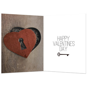 Key To My Heart Valentine's Day Greeting Card 4 pack