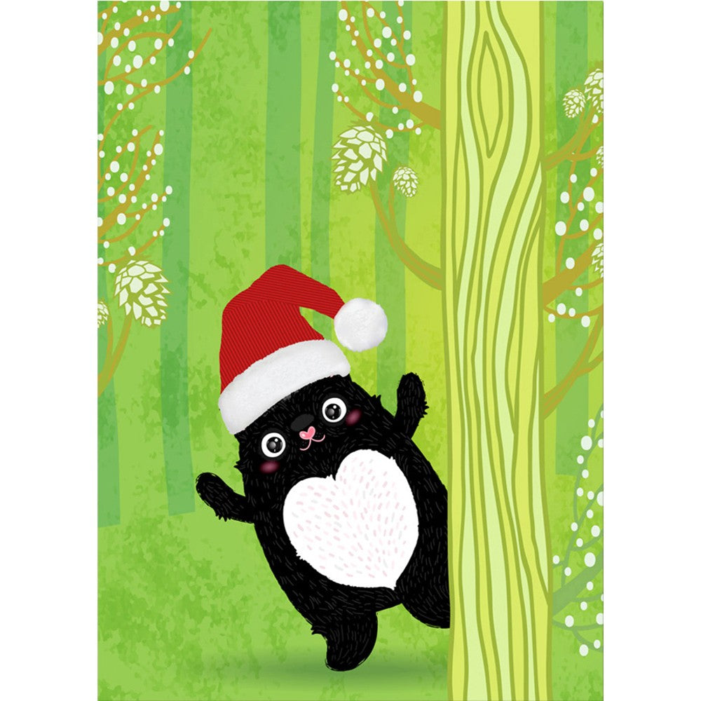 Cute Cat Christmas Holiday Greeting Card 4 pack
