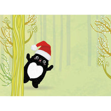 Load image into Gallery viewer, Cute Cat Christmas Holiday Greeting Card 4 pack