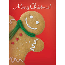 Load image into Gallery viewer, Gingerbread Man Christmas  Christmas Greeting Card 4 pack