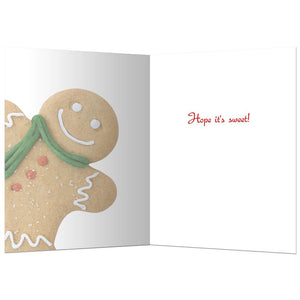 Gingerbread Man Christmas  Christmas Greeting Card 4 pack