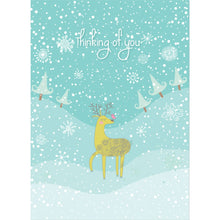 Load image into Gallery viewer, Sweet Reindeer Christmas  Christmas Greeting Card 4 pack