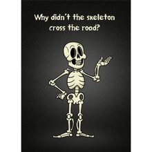 Load image into Gallery viewer, Skeleton Road Halloween Greeting Card 4 pack