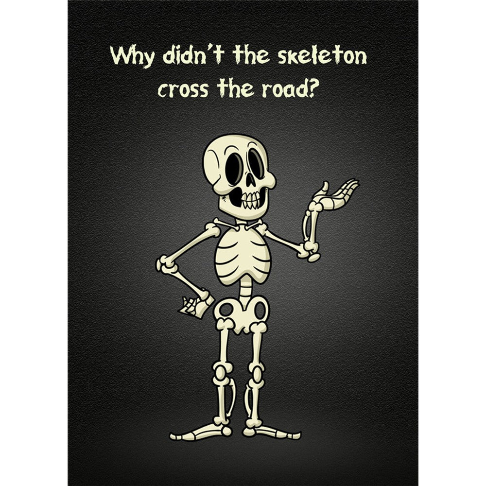 Skeleton Road Halloween Greeting Card 4 pack