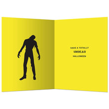 Load image into Gallery viewer, Zombie Crossing Halloween Greeting Card 4 pack