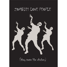 Load image into Gallery viewer, Zombies Love People Halloween Greeting Card 4 pack