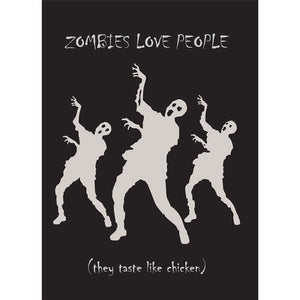 Zombies Love People Halloween Greeting Card 4 pack