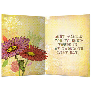 Just A Little Note Friendship Greeting Card 6 pack