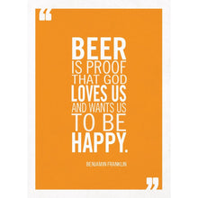 Load image into Gallery viewer, Beer Is Proof Birthday Greeting Card 6 pack