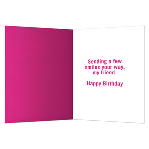 Count Your Friends Birthday Greeting Card 6 pack