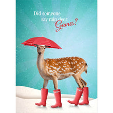 Load image into Gallery viewer, Rain Deer Holiday Greeting Card 4 pack