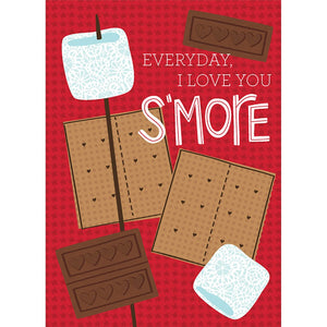 S'more Valentine Valentine's Day Greeting Card 4 pack