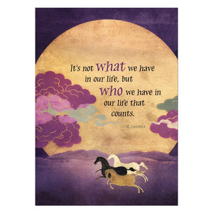 Not What But Who All Occasion Greeting Card 6 pack