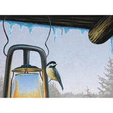 Load image into Gallery viewer, Warm Chickadees  Christmas Greeting Card 4 pack