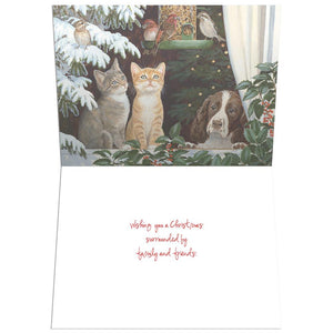 Family And Friends  Christmas Greeting Card 4 pack