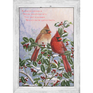 Winter's Splendor  Christmas Greeting Card 4 pack