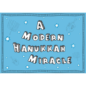 Modern Miracle  Hanukkah Greeting Card 4 pack