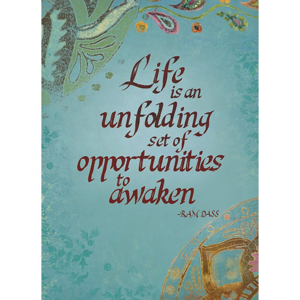 Life Is Unfolding Birthday Greeting Card 6 pack