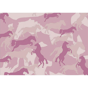Horse Flage Pink Greeting Card