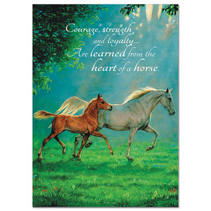 Courage, Strength, Loyalty Greeting Card