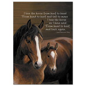 From Head To Hoof Greeting Card