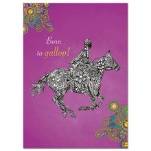 Load image into Gallery viewer, Born To Gallop Greeting Card