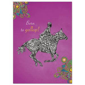 Born To Gallop Greeting Card
