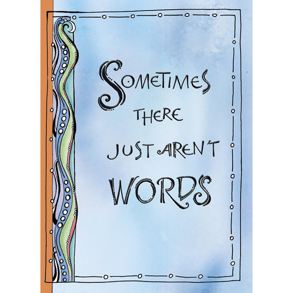 No Words Sympathy Greeting Card 6 pack