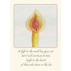A Light In The World Greeting Card