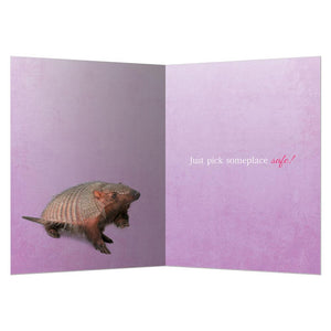 Curl Up Greeting Card
