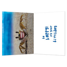 Load image into Gallery viewer, Don't Be Crabby Birthday Greeting Card 6 pack